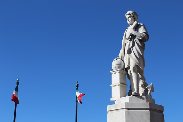 socha kryštof kolumbus