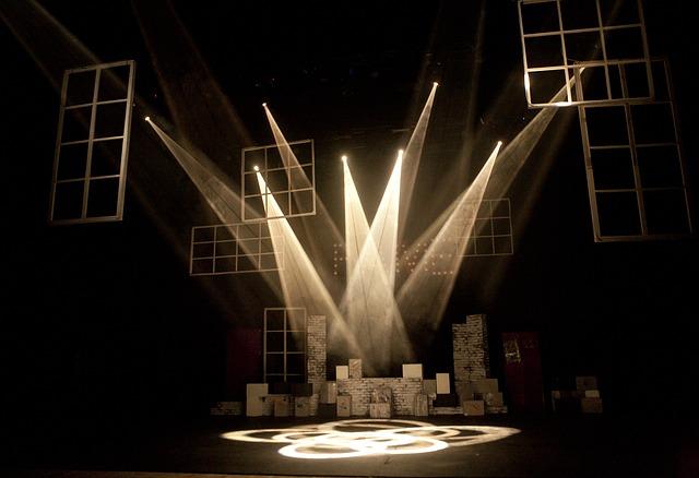 osvětlení představení