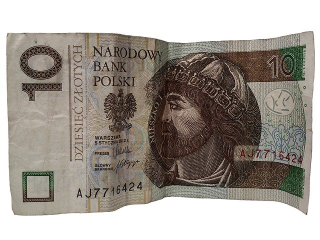 10 zlotých, bankovka